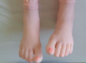 pieds de poupée gonflablee